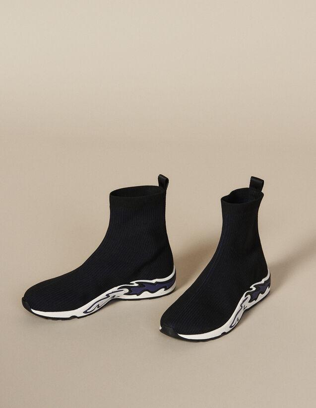 Sockensneaker Flame : Schuhe farbe NOIR/BLEU