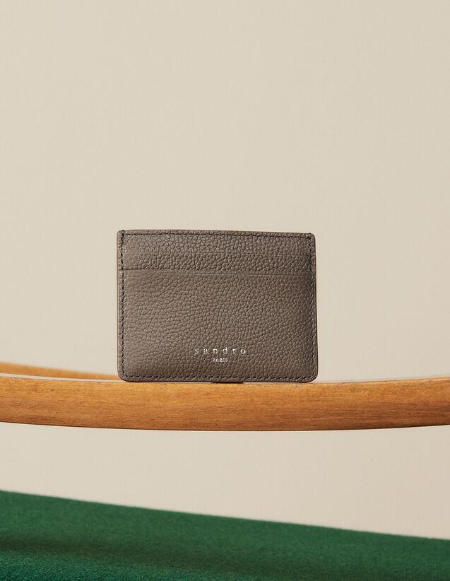 Kartenetui Aus Genarbtem Leder : Kartenhalter & Brieftaschen farbe Taupe