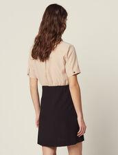 Hemdkleid Mit Trompe-L'Œil-Effekt : Kleider farbe Schwarz
