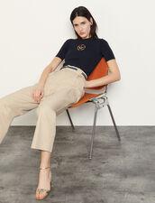 Hose aus Baumwollgabardine : Hosen farbe Beige