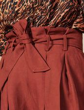 Plissierte Shorts Mit Bindegürtel : FBlackFriday-FR-FSelection-50 farbe Wine