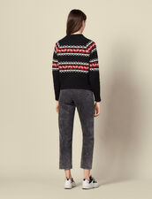 Pullover mit geometrischem Motiv : Pullover & Cardigans farbe Rouge/Noir/Ecru