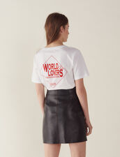 Lederrock Mit Trapez-Schnitt : Röcke & Shorts farbe Schwarz