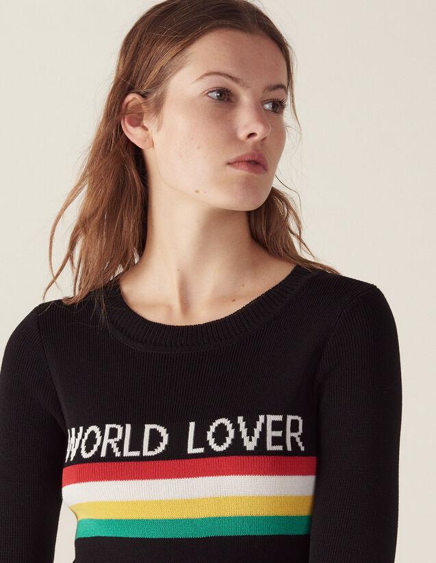 Pullover Mit Farbigen Streifen : Pullover & Cardigans farbe Schwarz