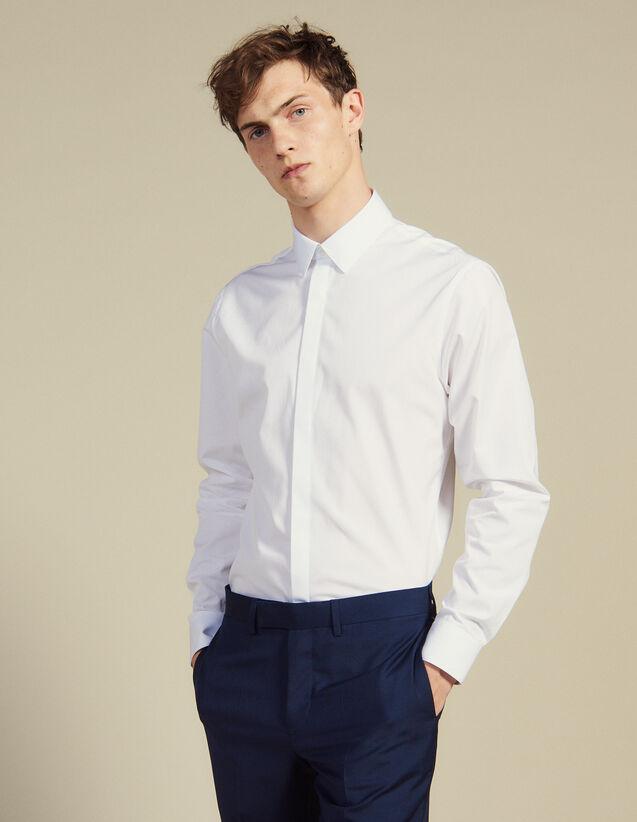 Hemd Mit Verdeckter Patte : Hemden farbe Weiß