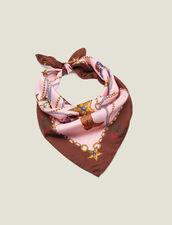 Halstuch aus Seide mit Santiag-Print : FBlackFriday-FR-FSelection-40 farbe Rosa