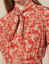 Kurzärmeliges Kleid mit Print : FBlackFriday-FR-FSelection-30 farbe Rot