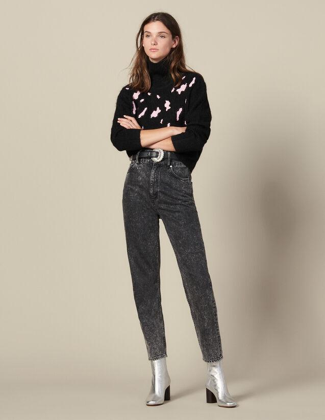 Pullover Mit Leopardenflecken : FBlackFriday-FR-FSelection-Pulls&Cardigans farbe Schwarz