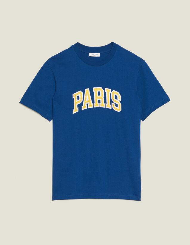 T-Shirt Mit Schriftzug : T-Shirts & Polos farbe Blau