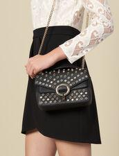 Yza Tasche, kleines Modell, mit Nieten : Die ganze Winterkollektion farbe Schwarz