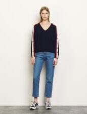 Pullover aus Wolle und Kaschmir : Pullover & Cardigans farbe Marine