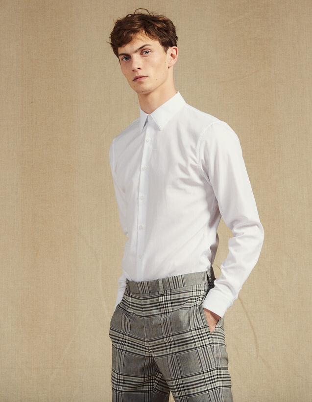 Formelles Hemd Aus Oxford-Gewebe : SOLDES-CH-HSelection-PAP&ACCESS-2DEM farbe Weiß