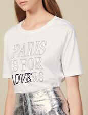 T-Shirt Aus Baumwolle Mit Schriftzug : LastChance-ES-F50 farbe Weiß