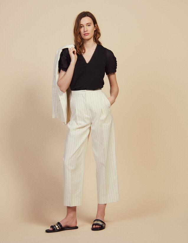 Anzughose Mit Weiter Passform : null farbe Weiß