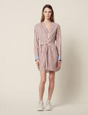 Kurzes Langarm-Kleid Mit Streifen : null farbe Bordeaux