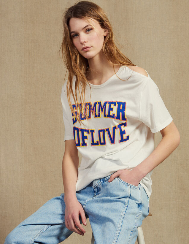 T-Shirt Mit Passen An Den Schultern : T-shirts farbe Weiß