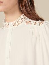 Fließende Hemdbluse aus Crêpe : FBlackFriday-FR-FSelection-Tops&Chemises farbe Ecru