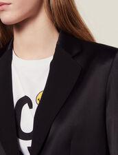 Passende Satinierte Kostümjacke : Blousons & Jacken farbe Schwarz