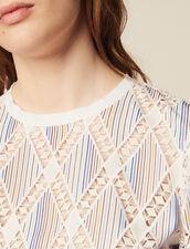 Spitzentop Mit Kurzen Ärmeln : Bedrucktes Hemd farbe Bunt