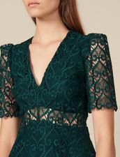 Kurzes Ausschnitt-Kleid mit Herzgipüre : FBlackFriday-FR-FSelection-30 farbe Grün