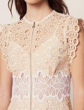 Kurzes Kleid Aus Gipürespitze : null farbe Elfenbein