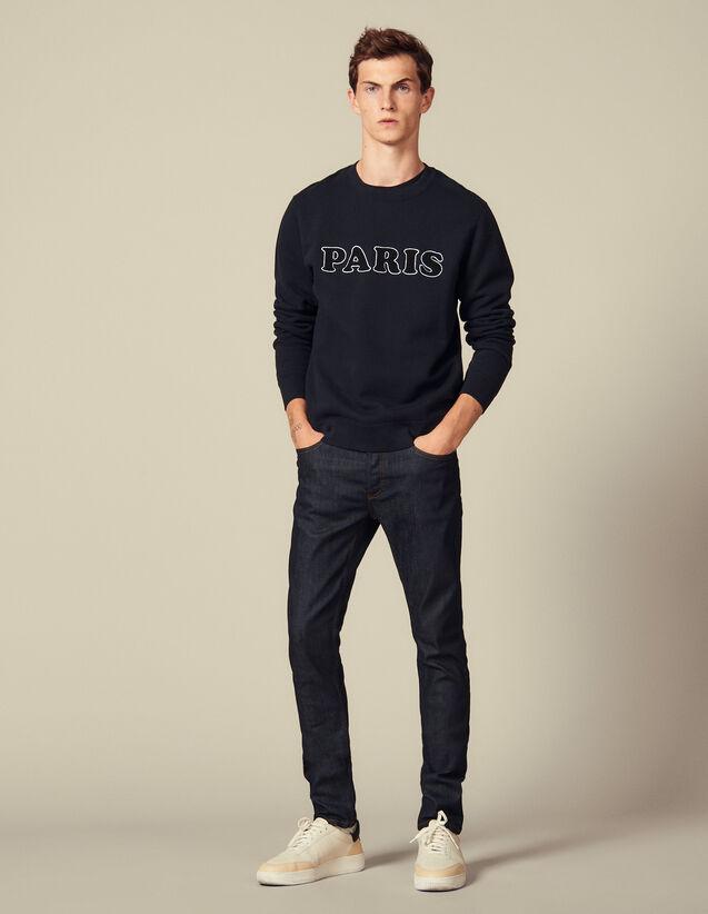 Raw-Denim-Jeans Mit Skinny-Fit : Jeans farbe Brut - Denim