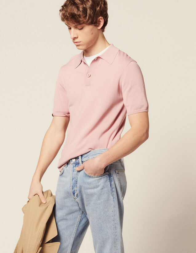 Kurzarm-Poloshirt Aus Feinstrick : T-Shirts & Polos farbe Ecru