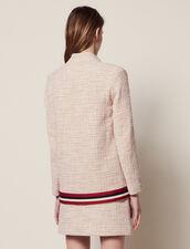 Westenjacke Aus Tweed : null farbe Rosa