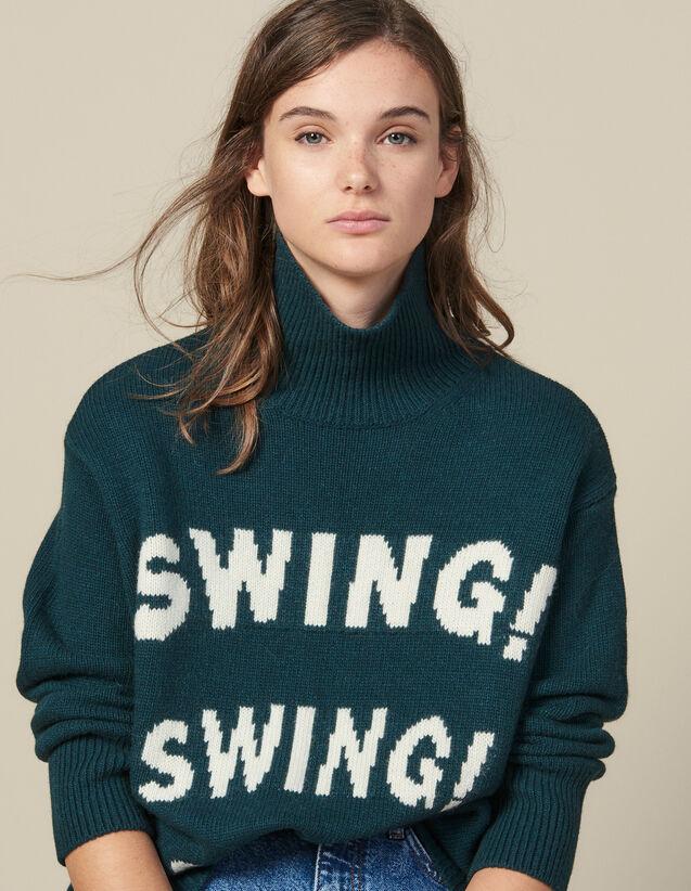 Rollkragenpullover Mit Jacquard : Pullover & Cardigans farbe Grün