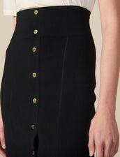 Langer Körperbetonter Strickrock : Röcke & Shorts farbe Schwarz