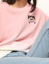 Sweatshirt mit Farbverlauf und Stickerei : Sweatshirts farbe Rosa