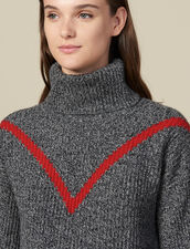 Rollkragenpullover Aus Meliertem Strick : Pullover & Cardigans farbe Grau