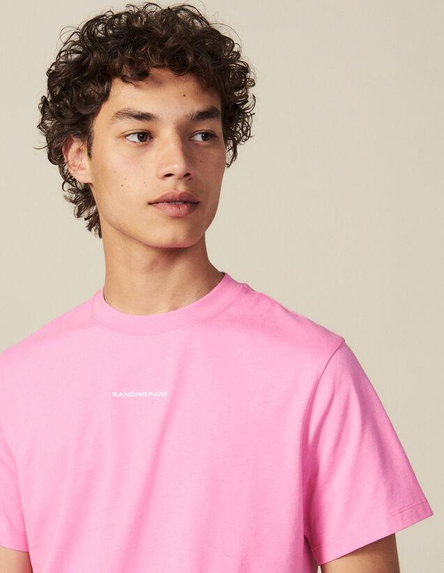 T-Shirt aus Baumwolle : Die ganze Winterkollektion farbe Rosa