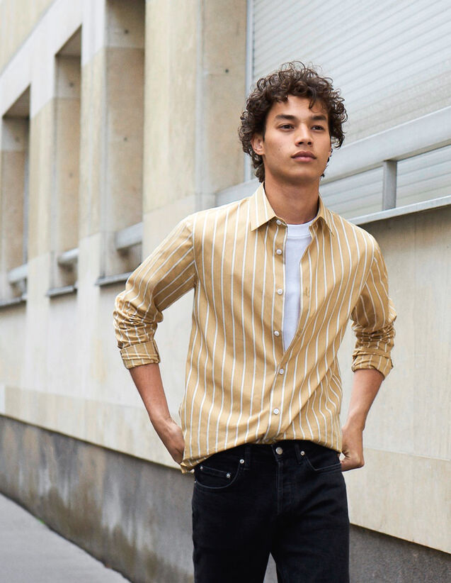 Hemd Aus Baumwolle Mit Streifen : Neue Kollektion farbe Beige/blanc
