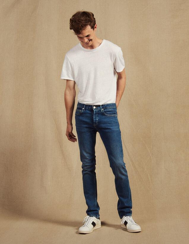 Jeans Verwaschen – Passform: Schmal : Jeans farbe Blue Vintage - Denim