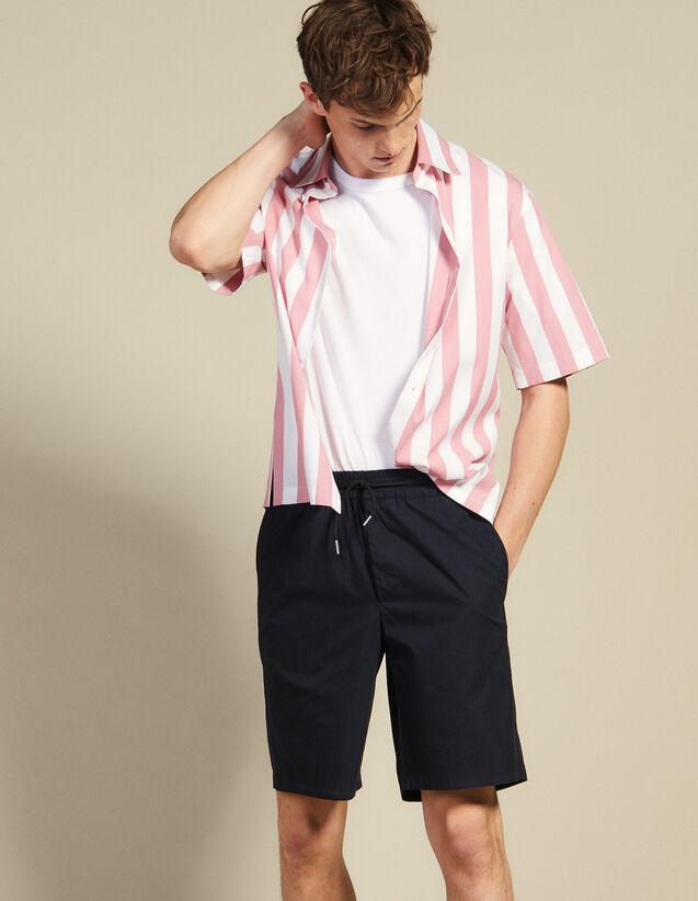 Bermudashorts Mit Zugband In Der Taille : Hosen & Shorts farbe Marine