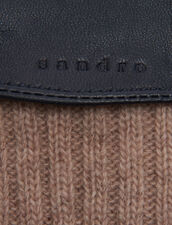 Lederhandschuhe Mit Strickbündchen : Handschuhe & Mütze farbe Marron foncé