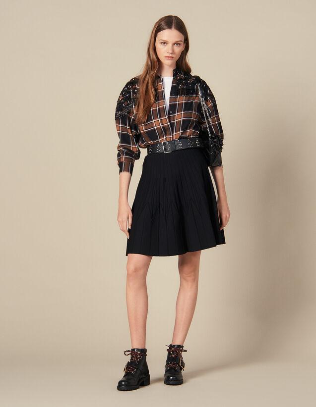Ausgestellter Strickrock : Röcke & Shorts farbe Schwarz