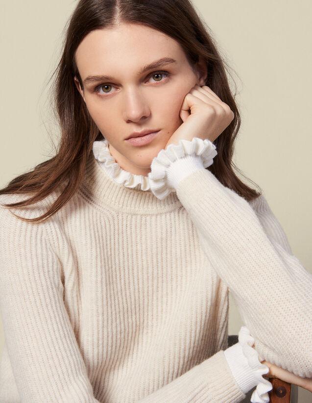 Pullover mit Kontrastbündchen : Pullover & Cardigans farbe Beige