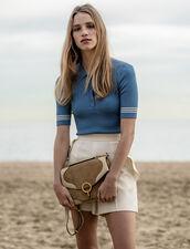 Pullover Im Polo-Stil : Pullover & Cardigans farbe Bleu jean