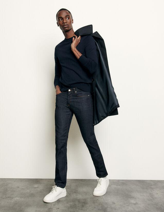 Jeans unbearbeitet – schmaler Schnitt : Jeans farbe Brut - Denim