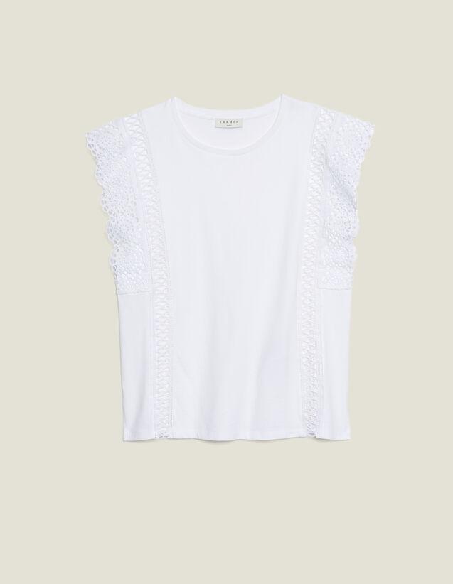 T-Shirt Mit Spitzenborten : T-shirts farbe Weiß