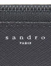 Reißverschluss-Etui Aus Saffiano-Leder : Sommerkollektion farbe Schwarz