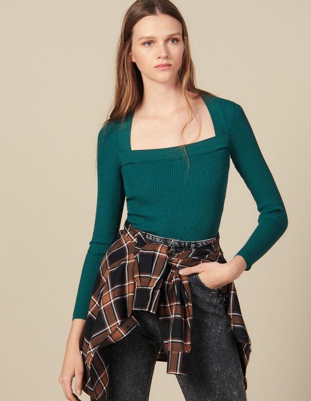 Pullover Mit Quadratischem Ausschnitt : Pullover & Cardigans farbe Schwarz