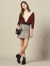 Pullover Mit V-Ausschnitt : Pullover & Cardigans farbe Brown