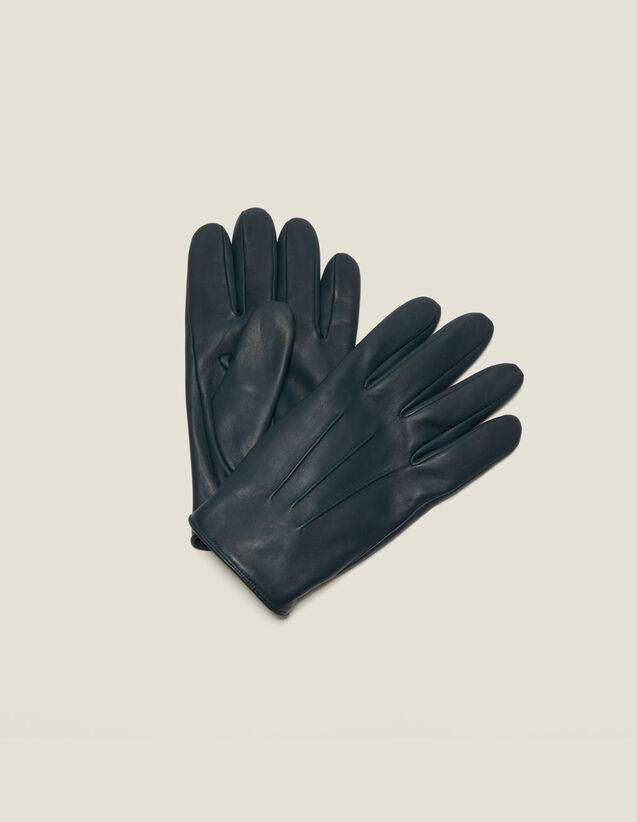 Lederhandschuhe : Handschuhe & Mütze farbe Vert foncé