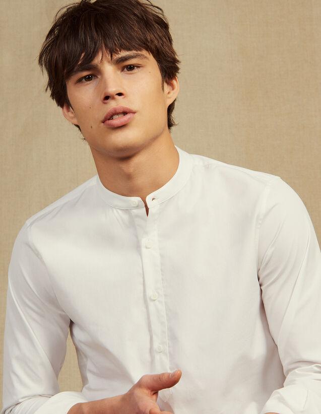 Tunikahemd Popeline : Hemden farbe Weiß