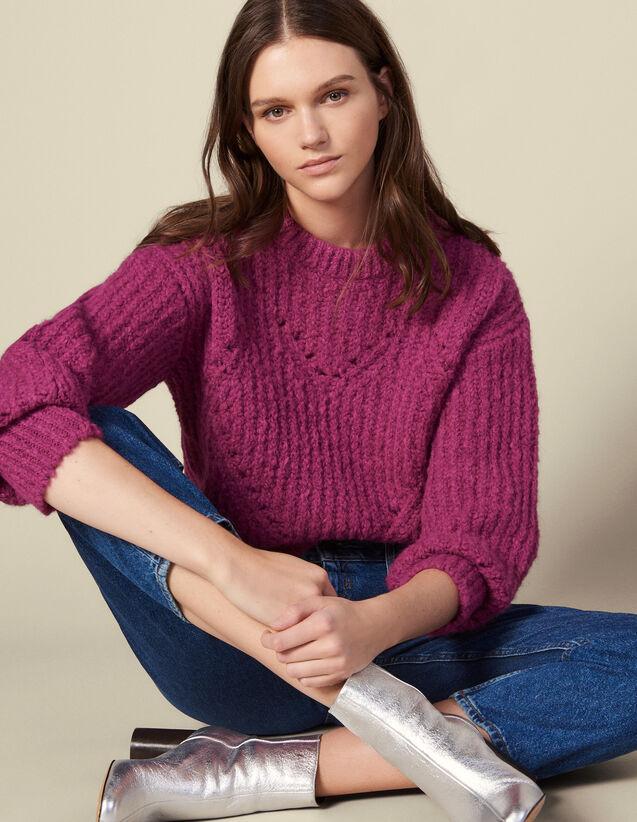 Stickpullover Mit Strukturmuster : Pullover & Cardigans farbe Fushia