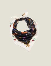 Halstuch Aus Seide Mit Santiag-Print : Scarves farbe Schwarz