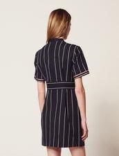 Kurzes Gestreiftes Kleid : Kleider farbe Marine